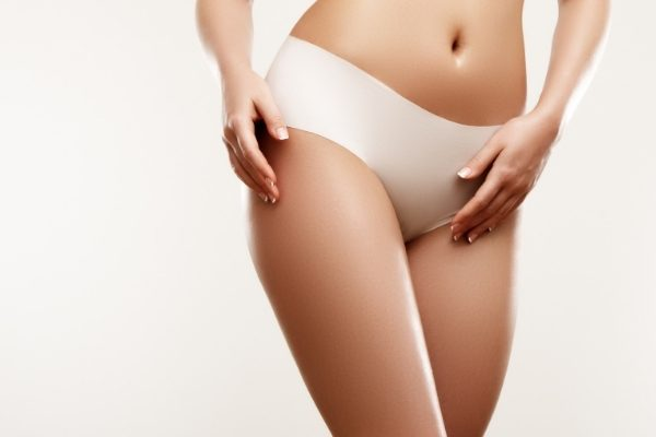 Soothing smooth thighs and bikini line show the results of DiolazeXL Laser Hair Removal.